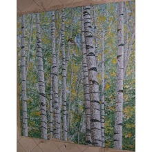 Wholesale Wall Art Forest Pattern Glass Mosaic Mural