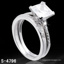 Bague en argent avec bague en diamant (S-4796.JPG)