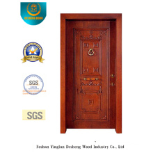 Classic Style Security Door with Carving (t-1012)