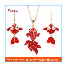 Африканские ювелирные наборы красные куклы большие кулон ожерелье и серьги наборы