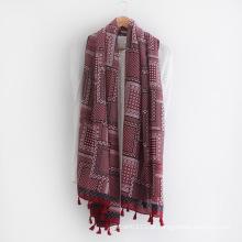 Pontos impressos moda senhora lenço de seda viscose (yky1156)