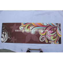 2016hot sell rubber suede yoga mat with custom design print