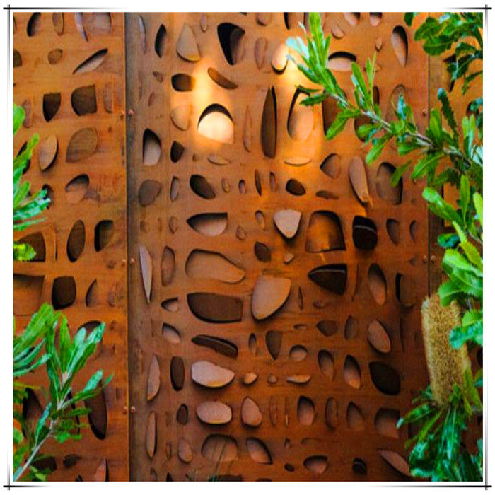 Corten steel screens