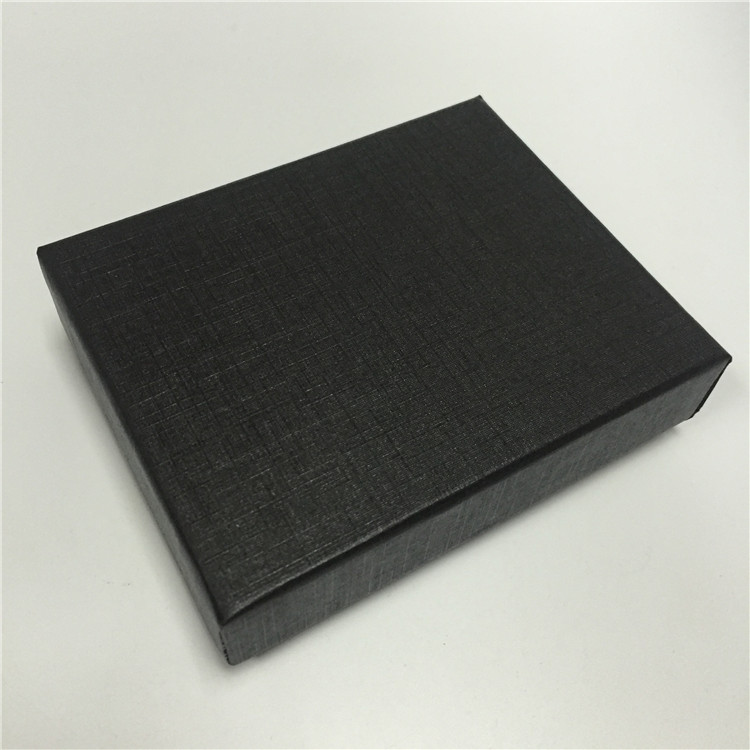 Black Square Gray Board Lid and Base Box