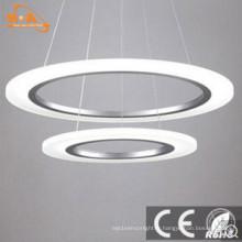 Lampe à suspension en aluminium moderne E27 Lampe à suspension en forme de lampe