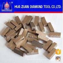 Segmentos de diamante de 1 metro de alta eficiência para cortar mármore