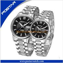 A venda quente novo design moda casal relógio para o presente