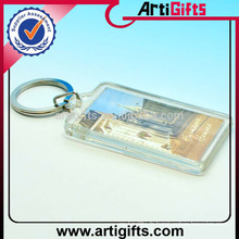 Wholesale pas cher personnalisé rectangle blanc porte-clés acrylique