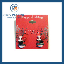 Red Printed Card for Earrings with Bend (CMG-033)