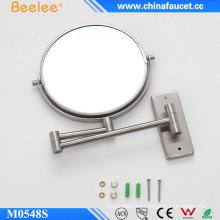 Espejo de pared decorativo de aumento de baño de maquillaje de acero inoxidable