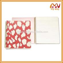 Hot selling custom spiriral notebook com papel colorido caderno de alta qualidade