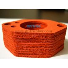 Joint d'éponge en silicone, joint en mousse de silicone fabriqué avec une éponge en silicone à cellule fermée