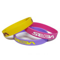 Printed Silicone Wristband Multi Colors Energy Bracelet