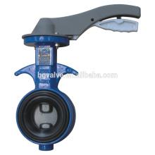 Válvula Borboleta Série BG360A Tipo de wafer corpo de alumínio comum