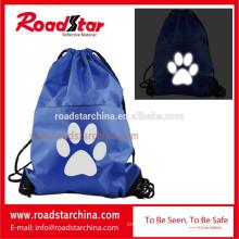 Hot selling promotional reflective drawstring bag