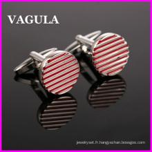 Vente en gros de qualité VAGULA lignes de boutons de manchettes (HL10142)