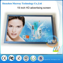 reliable metal housing 19 inch lcd media player for advertising display