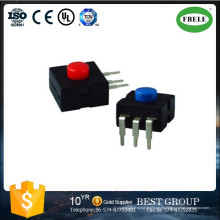 Mini interruptor de botón, pequeño interruptor de botón con LED, interruptor de la lámpara de un minero Interruptor dedicado de linterna puede elegir multifuncional