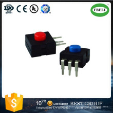 Mini Push Button Switch, Small Push Button Switch with LED, a Miner′s Lamp Switch Flashlight Dedicated Switch Can Choose Multi-Function
