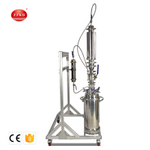 2lb closed loop extractor double jacketed with dewing column with tank