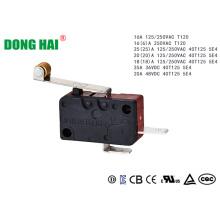 Microinterruptor de rodillo de bisagra larga Normal abierto