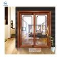 Diseño de la casa de cristal aislado insonorizado Hermoso aspecto puerta corredera precio barato