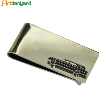 Metal Money Clip Wallet With Custom Design
