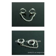 Coréia do design cirúrgico de aço inoxidável cadeia de orelha piercing