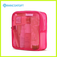 Zipper Pink PVC Cosmetic Makeup Bag Rbc-041