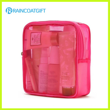 Zipper Pink PVC Cosmetic Makeup Bag Rbc-041