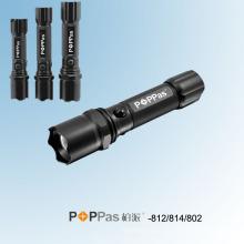 Lanterna de alumínio telescópica da polícia do diodo emissor de luz de CREE Xr-E Q5 (POPPAS-812-814-802)