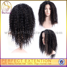 Afro Kinky Curly Indian Remy Hair Lace Front Wig