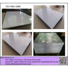 Folha rígida branca imprimível do PVC do material plástico de 300 Mircon para cartões de jogo