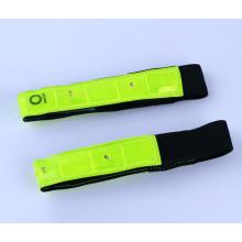 LED PVC reflectante slap wrap elástico brazalete reflectante