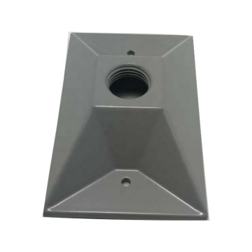 customizable surface gray plastic spray precision aluminum cover die casting parts