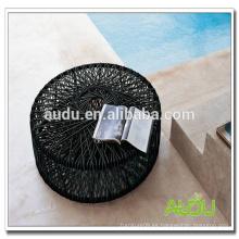 Mesa de comedor de gama alta, mesa de comedor redonda de roda redonda hecha a mano