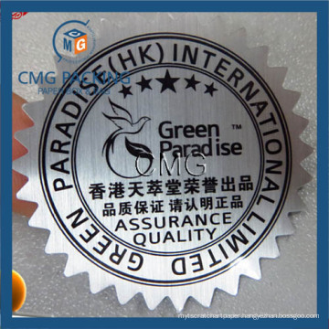 Silver PVC Adhesive Sticker Printing Vynil Label