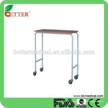 Economic hot selling Non Tilt top over bed/beside table for hospital use