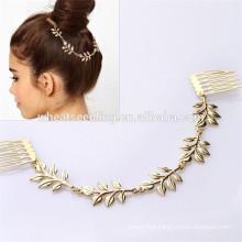 fashionable bun ornament 5 leaves different types custom bulk hair combs