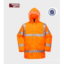 OEM Orange Waterproof hi vis uniforms construction professional workwear