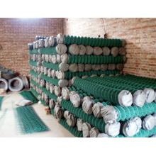 PVC beschichtete grüne Kette Link Zaun