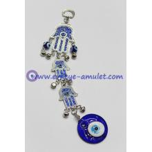 Hamsa wall hanging with evil eye,home decor,hand shaped with nazar