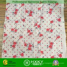 Tecido de flor impresso para vestido de senhoras e vestuário