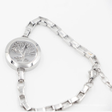 The Tree of Life Magnet Side Open Oild Diffuser Locket for bracelet Fashion Jewelry