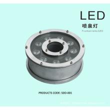 9W 12w Round shape RGB led fountain light AC24V, AC12V