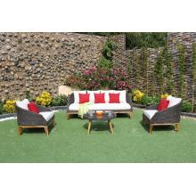 Sofá sintético superventas de la rota del diseño moderno fijado para los muebles al aire libre del jardín