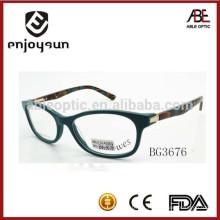 2015 lentes superiores del marco óptico del acetato de la señora de la venta