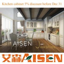 Josephine Mueble de cocina de PVC blanco moderno diseño de cocina de lujo