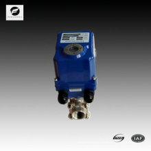 ФТ-001 2-полосная полный порт пластиковый моторизованный шаровой клапан для автоматического контроля, очистки воды