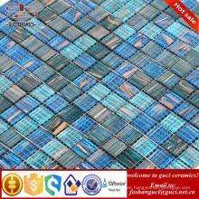 China liefern Produkte bule gemischte Hot - schmelzen Mosaik Schwimmbad Bodenfliese